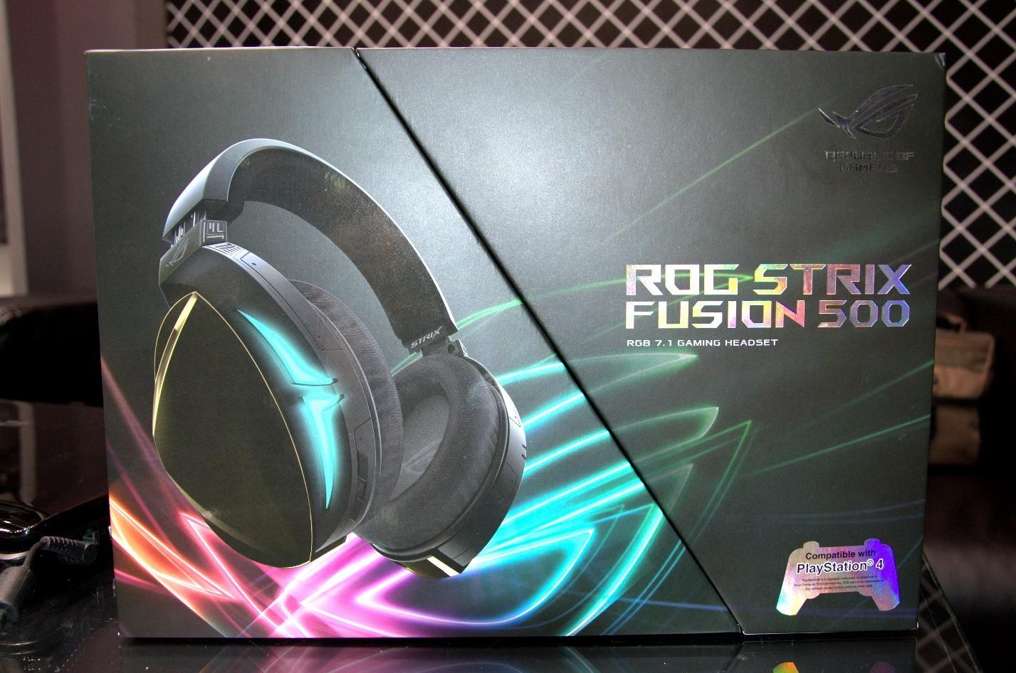 Игровая гарнитура ROG Strix Fusion 500 коробка перед